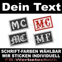 MC Patch Biker Aufnäher Patches 6x4 AS